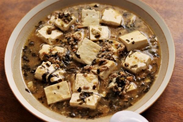 しそ巻唐辛子麻婆豆腐