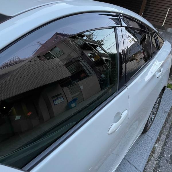 プリウス 光沢 透視化 ガラスコーティング 反射 クリーニング 洗車が簡単